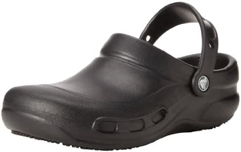 Crocs Men's and Women's Bistro Clog  | Slip Resistant  Comfort Slip On Work Shoe | Lightweight Nursing or Chef Shoe
