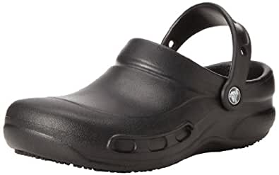 Crocs Unisex Bistro Clog, Black, 10 US Men's/12 US Women's