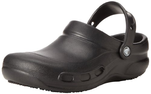 crocs Unisex Bistro Clog, Black,6 US Men's/ 8 US Women's