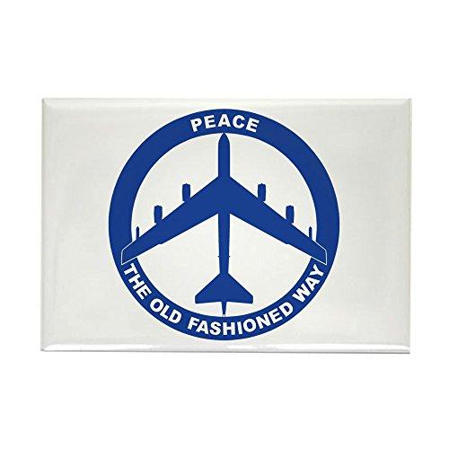 (CafePress B-52G Peace Sign Rectangle Magnet, 2