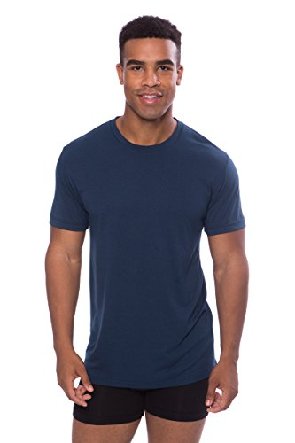 (Texere Crew Neck Undershirt for Men (Dexx, Midnight Blue, XL) Breathable Tee)