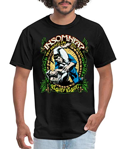 Spreadshirt Insomnia? Try Brazilian Jiu Jitsu Men's T-Shirt, 6XL, Black