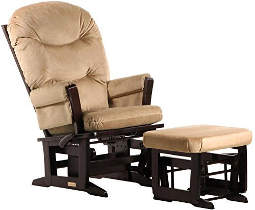 Multi Position Glider Rocker (Dutailier Modern Glider-Multi-Position Recline and Nursing Ottoman Combo, Espresso/Light)