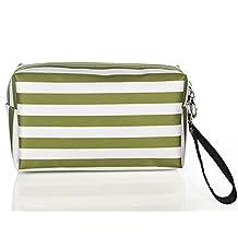 ZOONAI Portable Cosmetics Pouch Travel Toiletry Storage Makeup Bag Organizer Kit (Light Green)