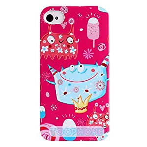 Nsaneoo - Joyland Ice Cream Monster ABS Back Case for iPhone 4/4S(Assorted Color) , Rose