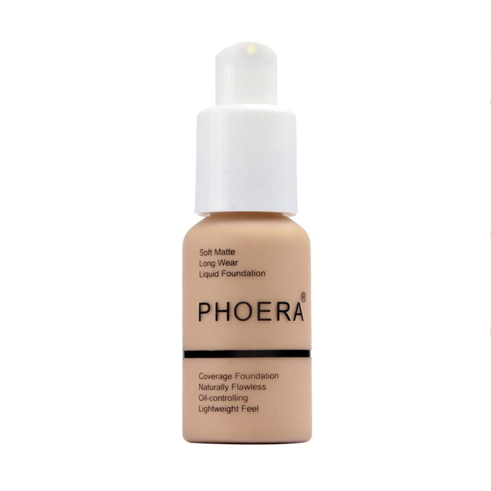 Heflashor 30ml Professional Cosmetics Liquid Foundation BB Cream Soft Long Wear Foundation Liquid Face Makeup Coverage Foundation Naturally Concealer Oil-controling Lightfeel Cream