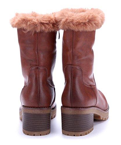 cm Damen Blockabsatz Winterstiefeletten Schuhe Boots Schuhtempel24 Stiefel Camel 6 pRPHnTxw