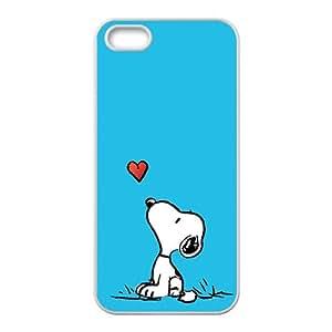 Cute Snoopy Lovely Dog Cartoon Black iPhone 5s case