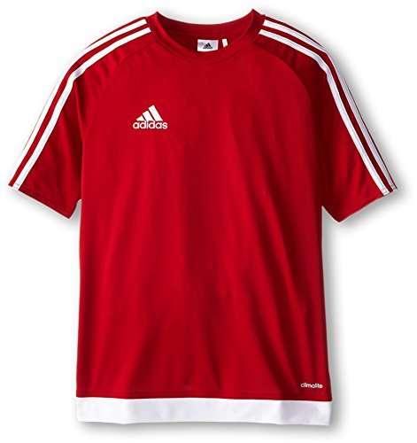 adidas Youth Soccer Estro Jersey, Power Red/White, - Red Jersey Football Embroidered