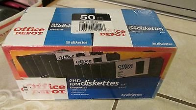 Office Depot(R) 3 1/2'' Bulk Diskettes, IBM(R) Format, DS/HD, Black, Box Of 50 by Office Depot
