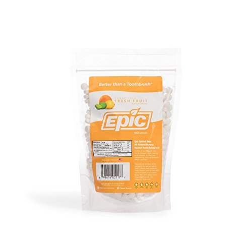 Epic Dental 100% Xylitol Sweetened Breath Mints, Fresh Fruit Flavor, 1000 Count Bag
