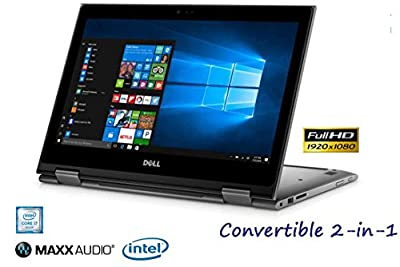 """Dell Touch 13-5378 Convertible 2-in-1 PC Intel 7th Gen i7 up to 8GB 256GB SSD 13.3"""" Full HD LED WiFi Cam HDMI (Certified Refurbished)"""