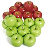 12pcs Decorative Large Artificial Red Apple Plastic Fruits Home Party Decor