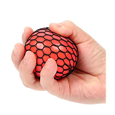 Fun Central BD108, 12 Pcs, 2.4 Inches Assorted Mesh Squishy Balls, Stress Balls, Squishy Toys for Kids, Sensory Toys, Soft Mini Balls, Squeeze Balls, Small Balls for Party Favors: Toys & Games