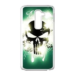 Black Skull Pattern Custom Protective Hard Phone Cae For LG G2