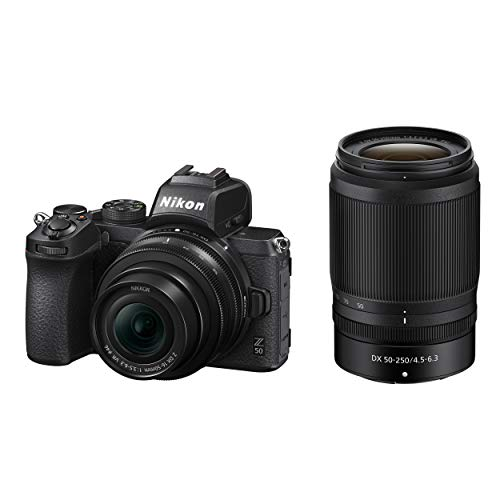 Z 50 DX-Format Mirrorless Camera Body w/NIKKOR Z DX 16-50mm f/3.5-6.3 VR & NIKKOR Z DX 50-250mm F/4.5-6.3 VR