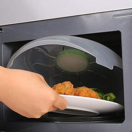 senza BPA 30/cm Lyndee Spardar microonde copertura con coperchio magnetico piastra Guard sistema vapore
