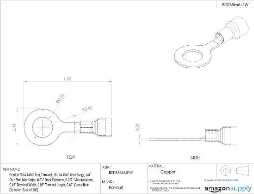Panduit Pk14 14r C Ring Terminal Kynar Insulated 18