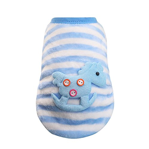 WEUIE Big Promotion! Puppy Clothes Cute Dog Cat Puppy Clothing Sweater Small Puppy Shirt Soft Pet Cat Coats (2XS, Multicolour)