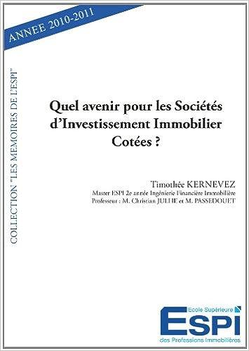 Livre Quel avenir pour les sociétés d'investissement immobilier cotées ? pdf
