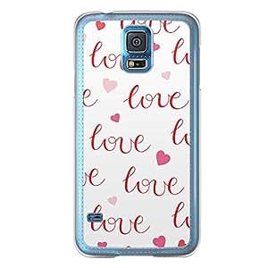 Loud Universe Samsung Galaxy S5 Love Valentine Printing Files A Valentine 41 Printed Transparent Edge Case - White/Red