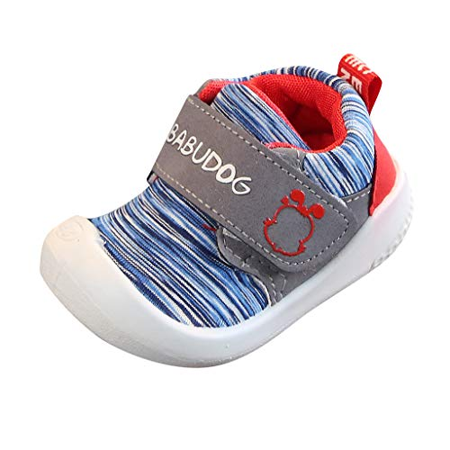 CCFAMILY Boys Fashion Shoes Baby Mesh Shoes Girls Sport Shoes Kids Sneakers Shoes Toddler Run Shoes Light Blue