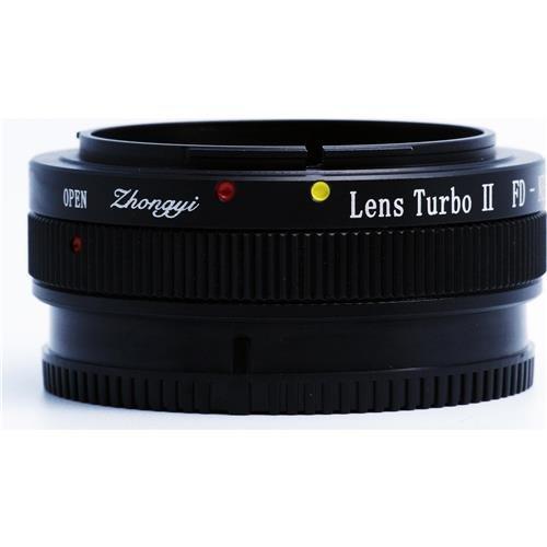 Mitakon Zhongyi Canon FD Lens to Sony E-Mount Camera Turbo Mark II Adapter, 4 Elements/ 4 - Lens Turbo