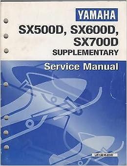 2000 YAMAHA SNOWMOBILE SX500D/SX600D/SX700D SUPPLEMENT