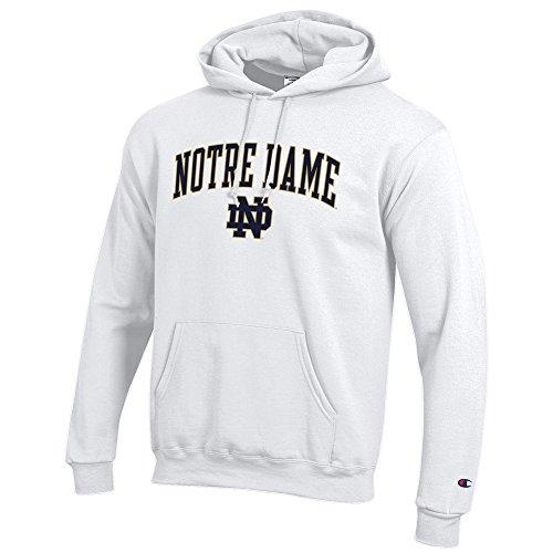 Notre Dame Hoodies - Elite Fan Shop Notre Dame Fighting Irish Hoodie Sweatshirt White - L - White Blue