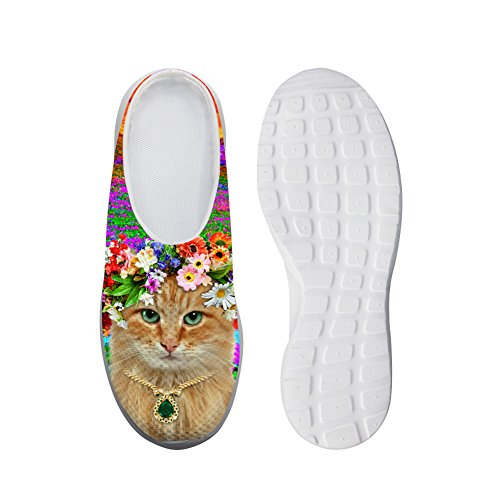 Fashion Cat Style Design Beach Sandals Breathable Mesh Flats shoess 40 I5yYzCM