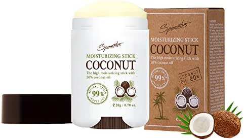 Spometics 20% Organic Extra Virgin Coconut Oil Lotion Stick, Kids Lotion, Night Moisturizer for Face, Good Seed Lotion for Kids Travel Activities, Face Stick, Coconut Oil Travel Size, 0.71 Ounce