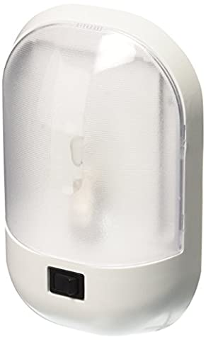 Fasteners Unlimited (001-901XPB) White Interior Single Dome Light with Rocker Switch - Elegance Ceiling Light