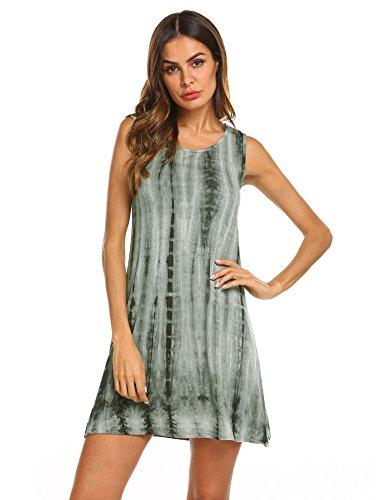 Womens Juniors Tie Dye - FineFolk Women's Tunic Swing T-Shirt Dress Short Sleeve Tie Dye Ombre Dress