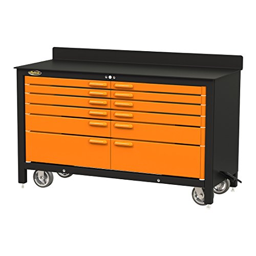 Swivel 12-Drawer 60-Inch Rolling Workbench