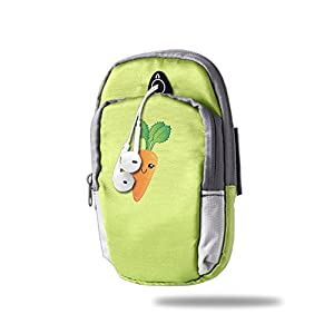 Outdoor Sports Armband - Cute Cartoon Carrot Sports Outdoor Cellphone Armband Bag - Best For Running, Sports And Workout