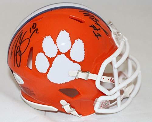 (Wayne Chrebet Autographed/Signed New York Jets TB Mini Helmet JSA)