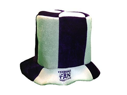 Extreme Fan Top Hat - Purple and White - Support your favorite team or event - Stand UP and Stand Out with TOTAL DEVOTION, Extreme Fan Devotion