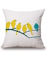 Wanglongbaihuo Sofás para Sala de Estar Pantalla geométrica Cojín Almohada Almohada Color Amarillo Brillante Textura de Lino Sofá (Color : C)