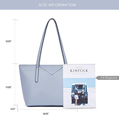 BROMEN Women Handbags Designer Leather Tote Purse Large Capacity Purses and Handbags Shoulder Bag 4