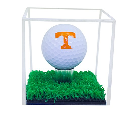 Deluxe Clear Acrylic Golf Ball Display Case with Turf Base (A046-CTB)