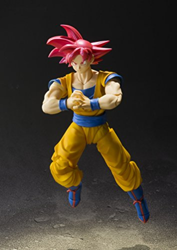 "410MqQKvcaL - Bandai Tamashii Nations S.H. Figuarts Super Saiyan God Son Goku ""Dragon Ball Super""  Action Figure"
