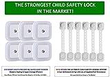Super Strength Child Safety Locks - Baby & Child Proof Solution for Drawers, Cabinets, Fridges, Doors, Toilet Seats & Children's LED Night Light (Combo Gift Set)