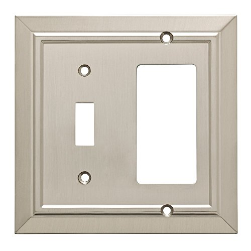 Franklin Brass W35222-SN-C Classic Architecture Switch/Decorator Wall Plate/Switch Plate/Cover, Satin Nickel ()