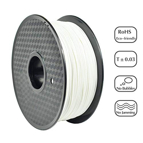 3 idea Imagine Create Print PLA 1.75 mm 3D Printer Filament (White, 1 kg)