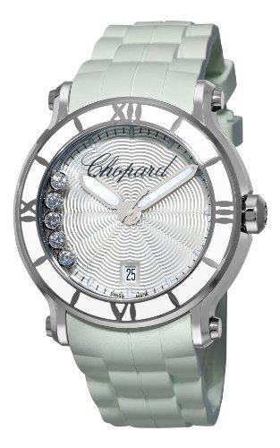 Chopard Women's 288525-3002 Happy Sport Round White Waved...