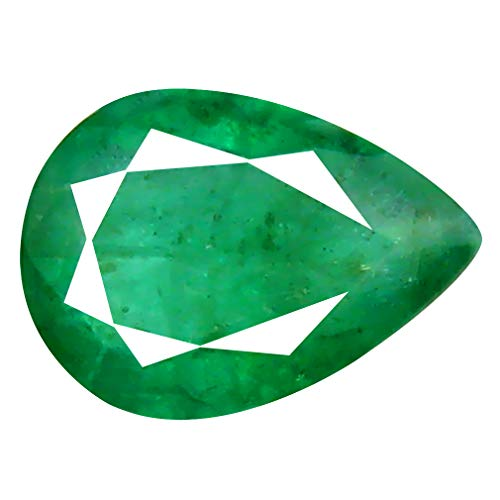 0.65 ct Pear Cut (7 x 5 mm) Unheated/Untreated Colombian Emerald Natural Loose Gemstone ()