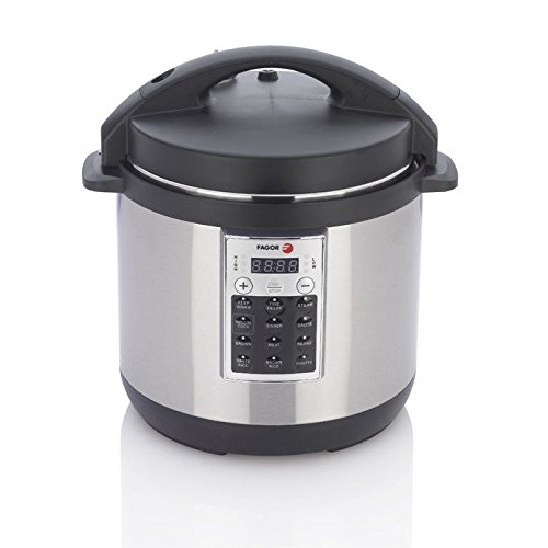 Fagor 670041970 Premium Electric Pressure and Rice Cooker, 8 quart, Silver