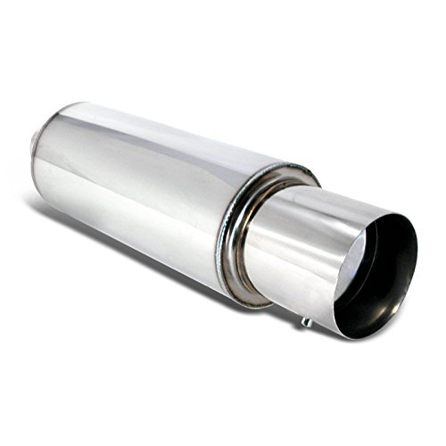 "Price comparison product image Spec-D Tuning MF-RS310 Universal 4"" Tip Jdm N1 Style Muffler Hi Flow Titanium Steel"