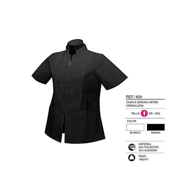 MISEMIYA Uniformes Sanitarios Casaca Camisa Mujer Cierre Cremallera Manga Corta 2