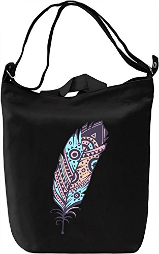 Indian feather Borsa Giornaliera Canvas Canvas Day Bag| 100% Premium Cotton Canvas| DTG Printing|
